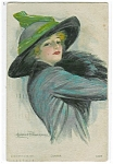 Artist Signed Postcard Clarence Underwood Diana Glamour Lady