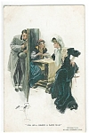 Artsist Signed Postcard Harrison Fisher Gypsy Fortune Teller