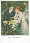 Artsist Signed Postcard Clarence Underwood Romance Germany