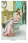 Antique Gutmann Postcard Guess Who Cupid Romance