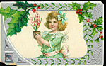 Antique Postcards Christmas Victorian Girl Child Germany