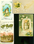 Antique Postcard Lot Easter Angel Doves Chicks