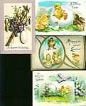 Antique Postcards Lot Easter Religious Eggs Chick Flowers