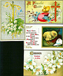Antique Postcards Lot Easter Chicks Eggs Cross Religious