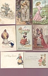 Antique Postcard Lot Easter Ladies Dog Children