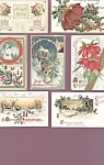 Antique Christmas Postcard Lot Of 7 Country Winter Scenes Girl