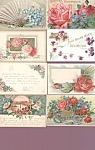 Antique Postcards Lot Victorian Roses Pansies Mums Flowers