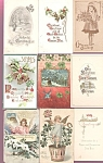 Antique Postcard Lot Christmas Victorian Angels Children