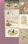 Antique Postcards Lot Easter Chicks Hen Religious