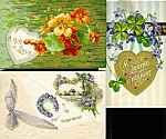 Antique Greetings Postcards: Love, Romance, Valentines Day