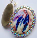 Our Lady Of Grace Miracles Locket Miraculous Mother Mary Pendant