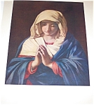 Antique & Vintage Prints: The Madonna In Prayer Religious Print
