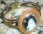 Mother Mary Baby Jesus Bangle Bracelet Madonna And Child