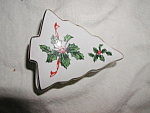 Tree Trinket Box With Holly Design