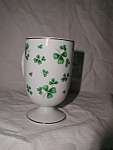 Lefton Footed Shamrock Mug
