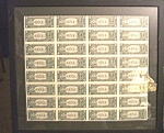 Uncut Currency Sheet Of 32 $1 Notes Rare Collectible