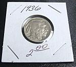 Indian Head Buffalo Nickel 1936