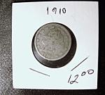 Liberty Head 'v' Nickel 1910