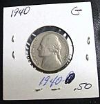 World War Ii Era Jefferson Nickel 1940 G