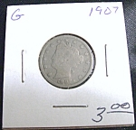 Liberty Head Nickel 1907 G