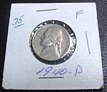 Jefferson Nickel 1940-p F