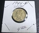 Jefferson Nickel Wartime 1945-p Silver