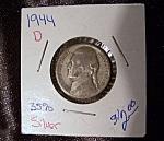 Jefferson Nickel 1944 D Wartime 35% Silver.
