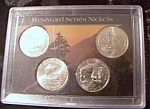 Set Of 4 U.s. Westward Series Nickels