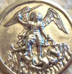 Round St. Michael Medal Saint Archangel Pendant