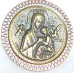 Large Antique Medal Our Lady Mother Mary Of Perpetual Help