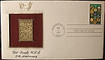 Gold Stamp Girl Scouts U.s.a. 75th. Anniv. 1st. Day