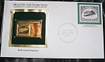 Gold Postage Stamp 24 Kt $6 Inverted Airplane 1st Day Of Issue.