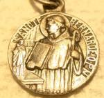 Antique Tiny Signed French St. Bernard Medal Jesus Christ Lassere