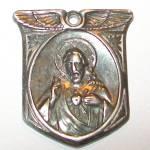 Sterling Jesus Christ Sacred Heart Medal Virgin Mary Pendant