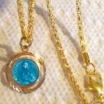 Vintage Native American Saint Kateri Medal Pendant St. Catherine