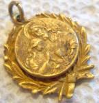 Antique Holy Communion Medal Jesus Christ Charm Pendant