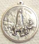 Vintage Our Lady Of Fatima Medal Large Mother Mary Pendant