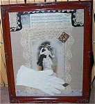 Shabby Victorian Chic Print Fabric Collage Dancing Romance