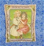 Victorian Decorative Art Print Pillow Sachet: Sisters