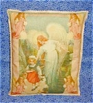 Decorative Throw Pillow Antique Art Print Guardian Angel