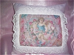 Decorative Art Throw Pillows Shabby Victorian Angels