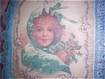 Decorative Art Print Throw Pillows Shabby Victorian Cottage Girl