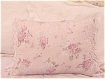 Cottage Chic Decorative Throw Pillow Peach Pink Flowers