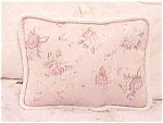 Cottage Chic Decorative Shabby Throw Pillow Peach Pink Floral