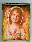 Decorative Art Print Pillow Sachet Victorian Girl