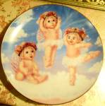Ltd Ed. Porcelain Cherub Ballerina Plate: Nursery Decor