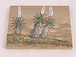 Hand Painted Desert Yucca Sandstone Picture