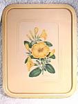 Vintage Yellow Floral Print Linum Trigynum Original Round Frame