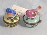 Winterthur Enesco Bird Trinket Boxes