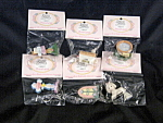 Lot Six Enesco Miniature Precious Moments Figurines 1998